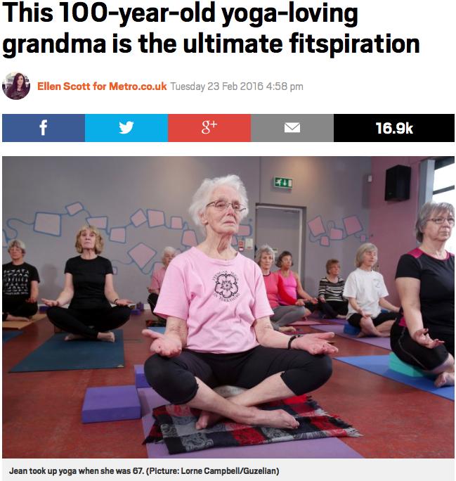 100 year old yogi