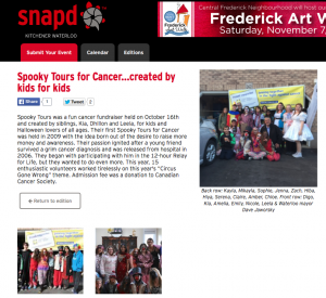 2015 Spooky Tours on SNAPd