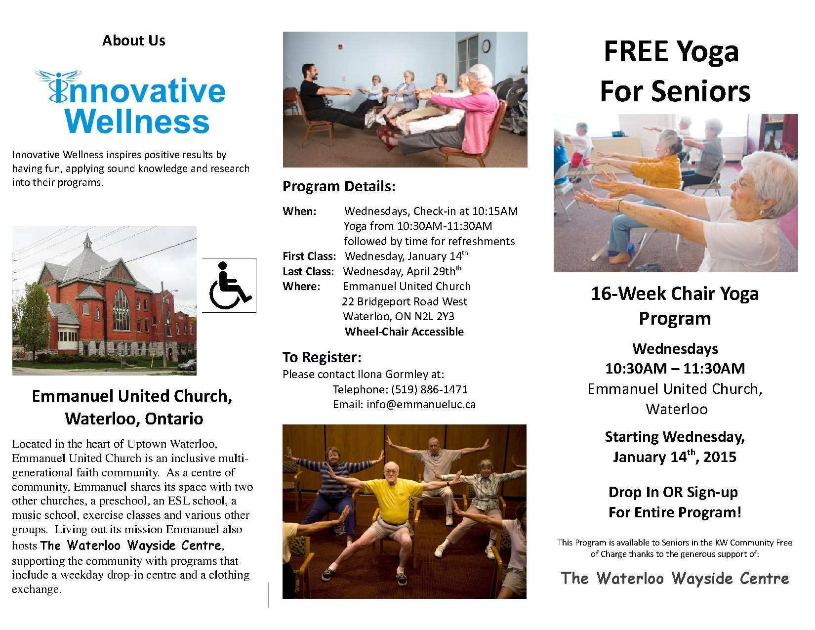 2015 Seniors Chair Yoga Spring 2015