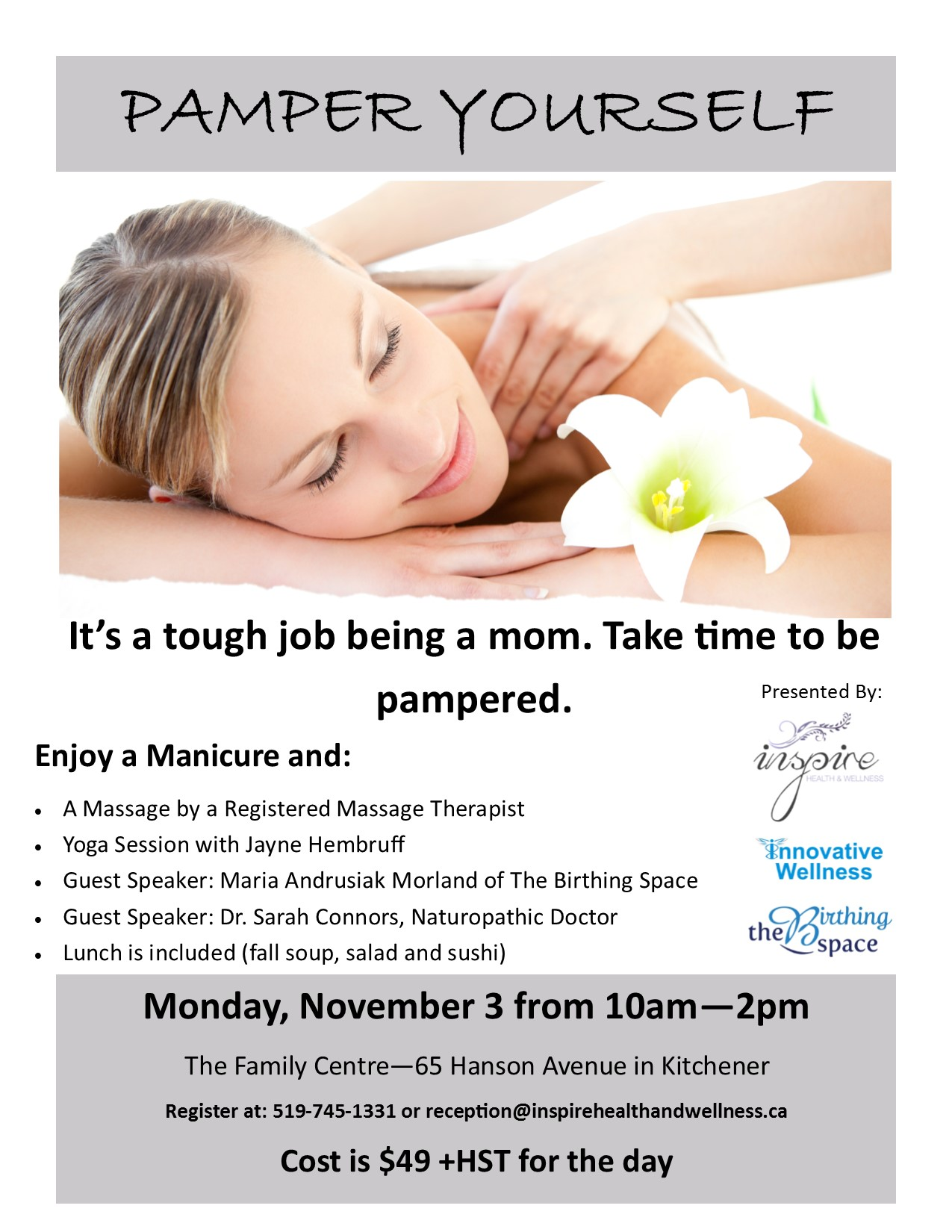Pamper Yourself Poster Mon Nov 3, 2014